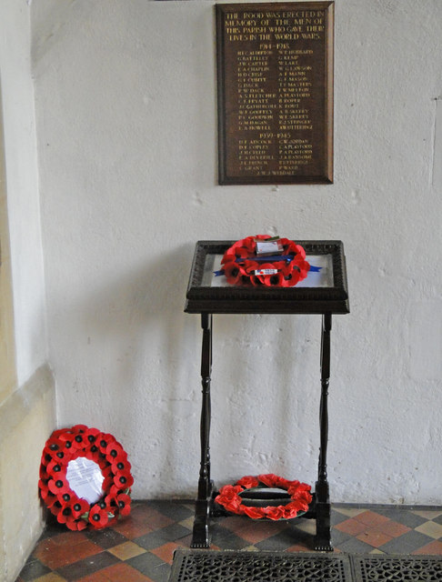 The War Memorial and Book of Remembrance at Docking