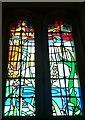 SU7900 : West Itchenor - St Nicholas - Modern stained glass by Rob Farrow