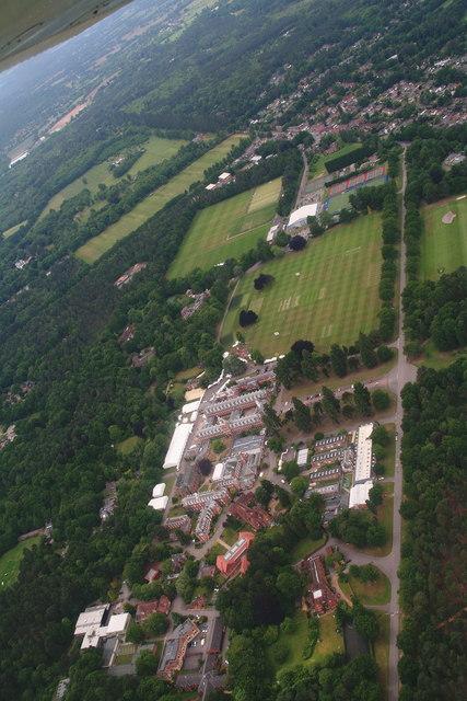 Wellington College, Crowthorne: aerial 2015