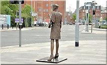 """J3373 : """"Mother Daughter Sister"""" sculpture, Sandy Row, Belfast - June 2015(3) by Albert Bridge"""