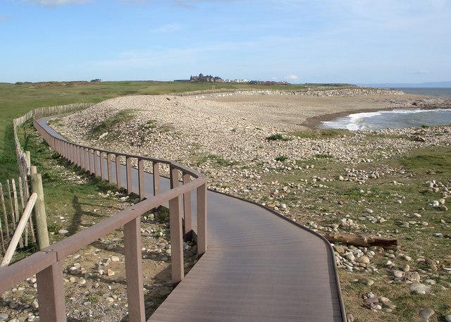 Wales Coast Path boardwalk above Pink Bay (2)