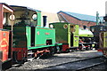 SK2406 : Statfold Barn Railway - simmering on shed by Chris Allen
