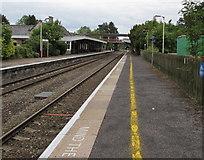 ST9897 : Yellow line along platform 2, Kemble railway station by Jaggery