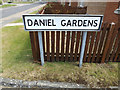 TM1474 : Daniel Gardens sign by Adrian Cable