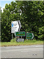 TM1274 : Roadsigns on the A140 Ipswich Road by Adrian Cable
