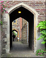 ST2224 : Taunton: passage with archways by John Sutton