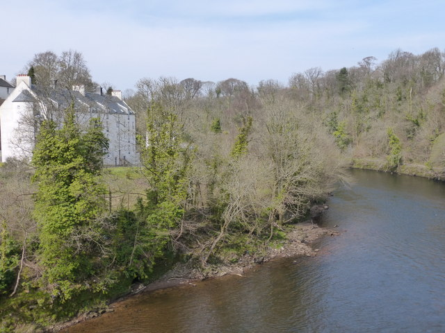 Site of the old Blantyre Mill, River Clyde
