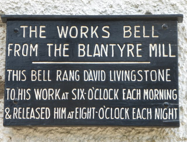 Bell plaque at Blantyre