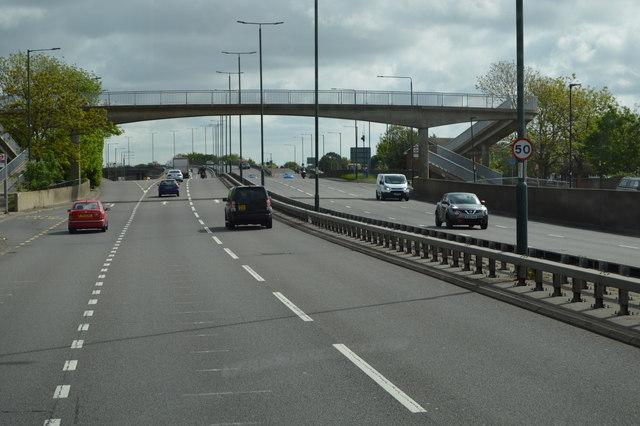 Footbridge over the A316