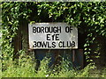 TM1474 : Borough of Eye Bowls Club sign by Adrian Cable