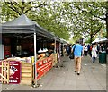 SJ8498 : Hog Roast at Piccadilly Gardens by Gerald England