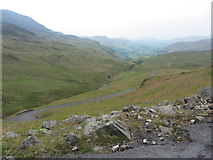 NY2201 : View west from Hardknott Pass by Gareth James
