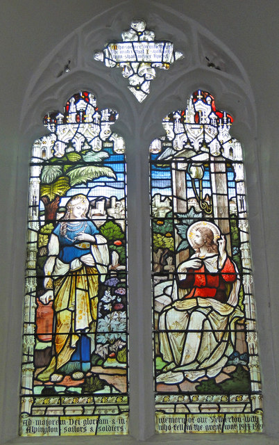 Yelverton and Alpington World War One Memorial window