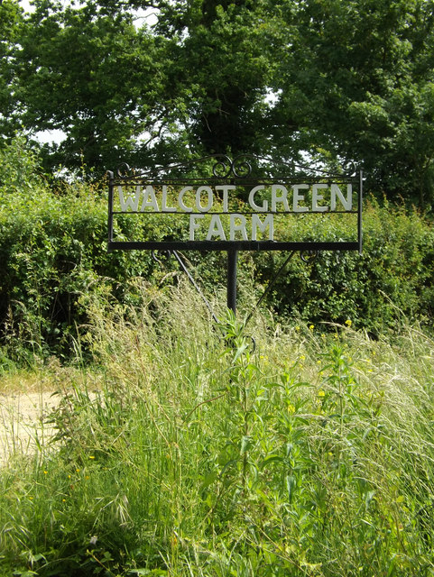 Walcot Green Farm sign