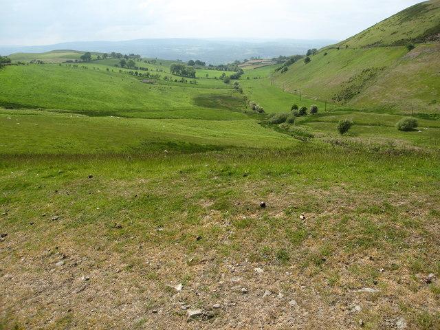 Fields in the Clwydian Range