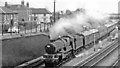 SU6080 : Goring & Streatley station, with cross-country express, 1964 by Ben Brooksbank