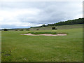 NZ3355 : A bunker on the Wearside Golf Club course by Oliver Dixon