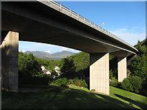 NY2824 : A66 Greta Viaduct near Keswick by Gareth James