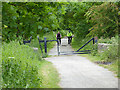NZ3456 : Railway path off Offerton Lane by Oliver Dixon