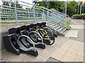 NZ3556 : Cycle racks at South Hylton Station by Oliver Dixon