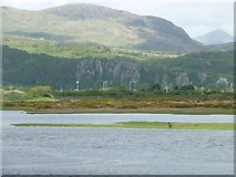 SH5738 : At the end of the footpath, alongside Afon Glaslyn by Christine Johnstone
