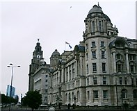 SJ3390 : Liverpool's 'Three Graces' by Anthony Parkes