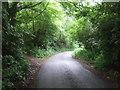 SK0542 : Bend in the lane towards Bradley in the Moors by JThomas