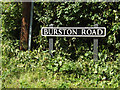 TM1180 : Burston Road sign by Adrian Cable