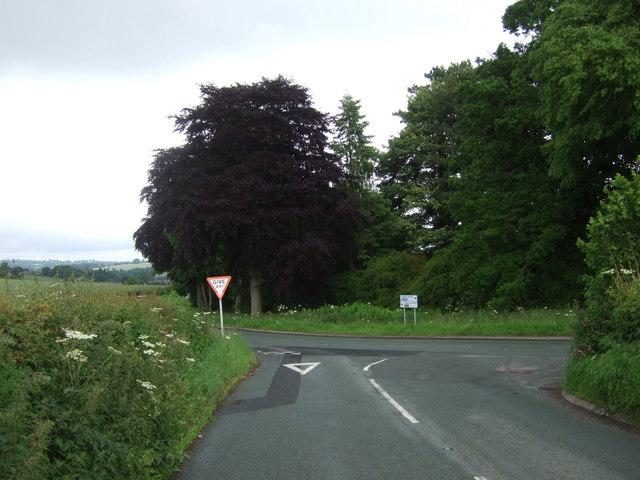 B road junction