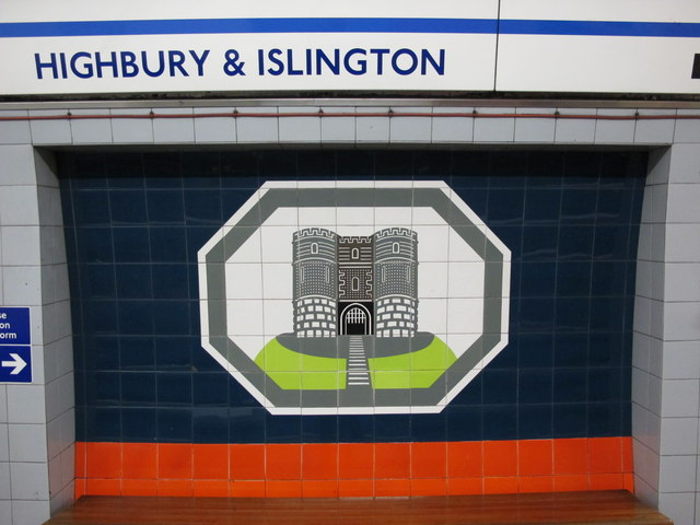 Highbury  & Islington tube station, Victoria Line, ceramic tiles