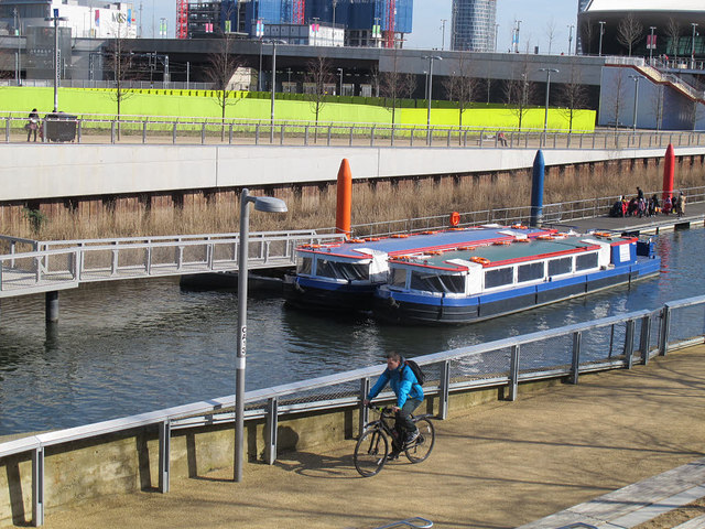 Pleasure boats in the Olympic Park