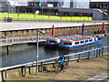 TQ3784 : Pleasure boats in the Olympic Park by Stephen Craven