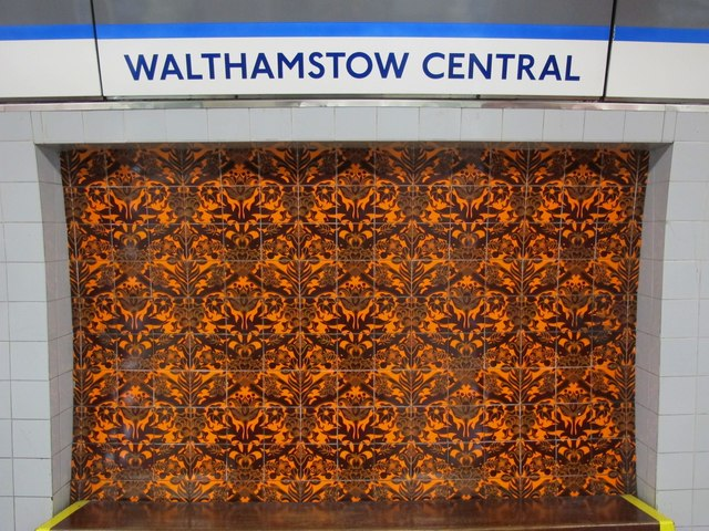 Walthamstow Central tube station - ceramic tiles