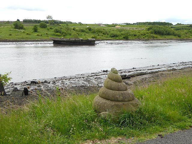 Sculpture beside the C2C