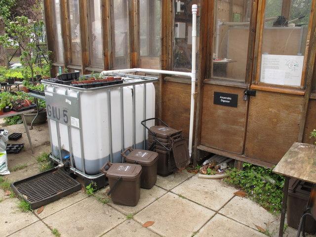 Anaerobic digester, Calthorpe Community Garden