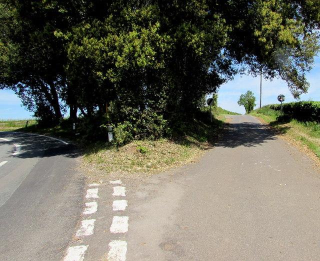 Junction near Acton Turville