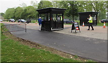 SP4416 : Ticket booths at the entrance drive to Blenheim Park, Woodstock  by Jaggery