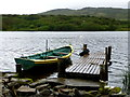 G7091 : Boat and jetty, Shanaghan Lake by Kenneth  Allen