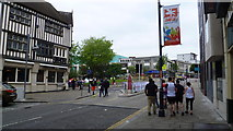 SS6593 : Approaching Castle Square in Swansea city centre by Jeremy Bolwell