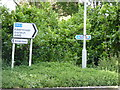 SO8865 : National Cycle Network Route 45 sign post by Jeff Gogarty
