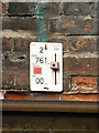 TM3877 : Track Datum Plate at Halesworth Railway Station by Adrian Cable