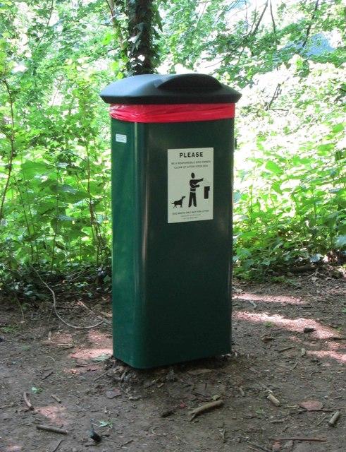 New dog waste bin (giant size) in Hurcott Wood, near Kidderminster