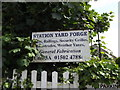 TM3877 : Station Yard Forge sign by Geographer