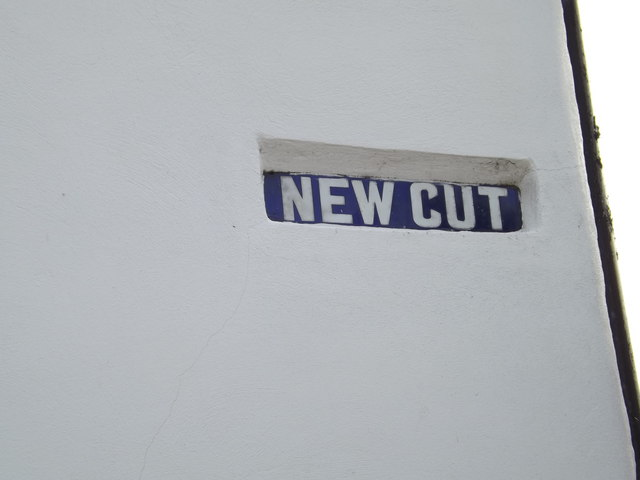 New Cut sign