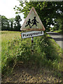 TM3674 : Roadsign on Peasenhall Road by Adrian Cable