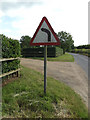 TM3673 : Roadsign on Peasenhall Road by Adrian Cable