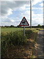 TM3673 : Roadsign on Peasenhall Road by Geographer