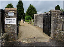 SP4416 : Main entrance to Hensington Road Cemetery in Woodstock by Jaggery