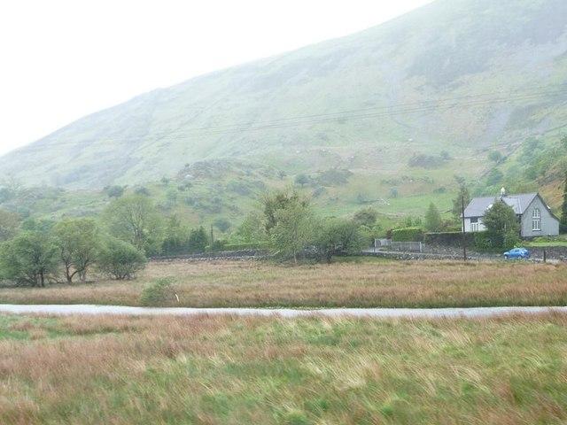 Afon Gwyrfai, Betws Garmon, on a rainy day