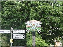 TM1551 : Henley village sign by Adrian S Pye